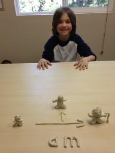 Dyslexia Reading Program clay model